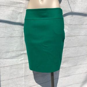 Burberry Green Pencil Skirt
